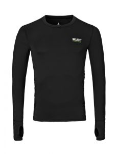T-SHIRT-DE-COMPRESSION-MANCHES-LONGUESNOIR-231x300